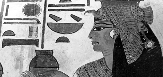 Egypt: Detail of Mural Painting Depicting Queen Nefertari