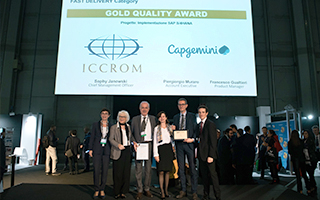 ICCROM Receives Prestigious Gold Award of the Annual SAP Quality Awards