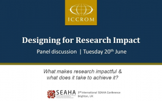 Embedded thumbnail for Panel Discussion on Designing for Research Impact in Heritage Science