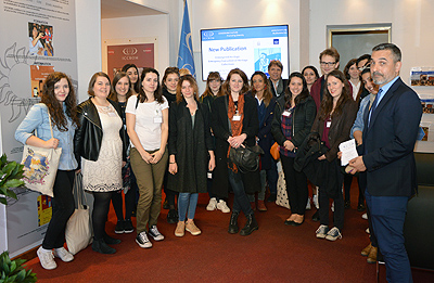Visit of a group of students frome the Université Paris Sud