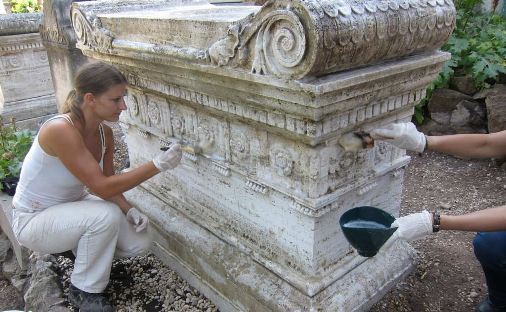 International Course on Stone Conservation at the Non-Catholic Cemetery in Rome