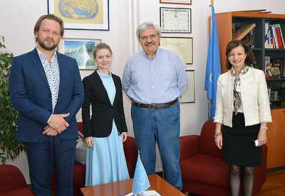Arseny Mironov and Nadezhda Filatova from the Russian State Scientific and Research Institute of Cultural and Natural Heritage visited ICCROM