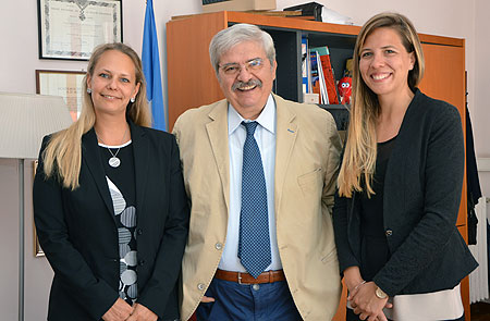 visit of Krisztina Lakos and Orsolya Katalin Szabó from the Embassy of Hungary