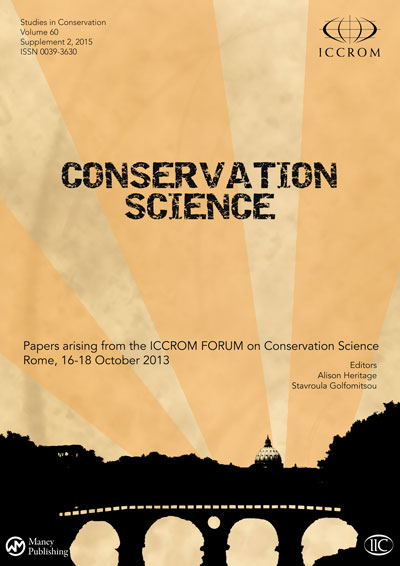 Front cover of ICCROM & IIC publication ICCROM Forum on Conservation Science