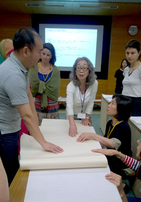 Japanese Paper Conservation course begins