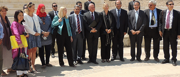 Joint ICOM-ICCROM and UNESCO Mission to Egypt group photo