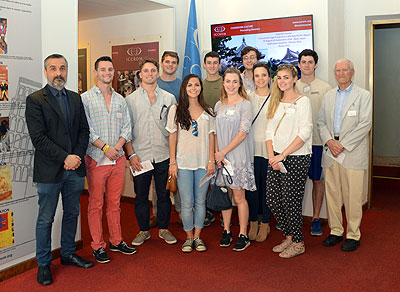 visit of a group of students from Trinity College together with their professor, Henry de Phillips