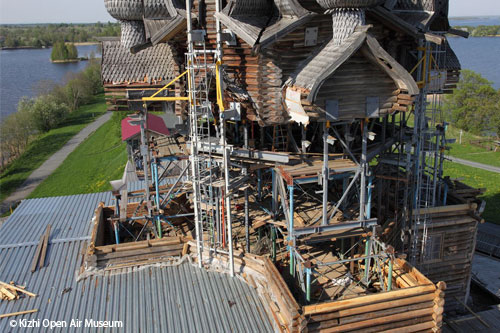 Wooden architecture conservation and restoration © Phot: Kizhi Open Air Museum