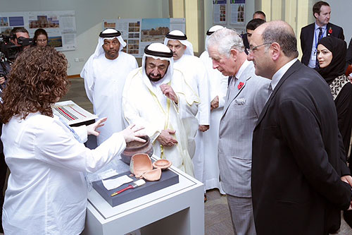 Prince Charles visits the ICCROM-ATHAR Centre